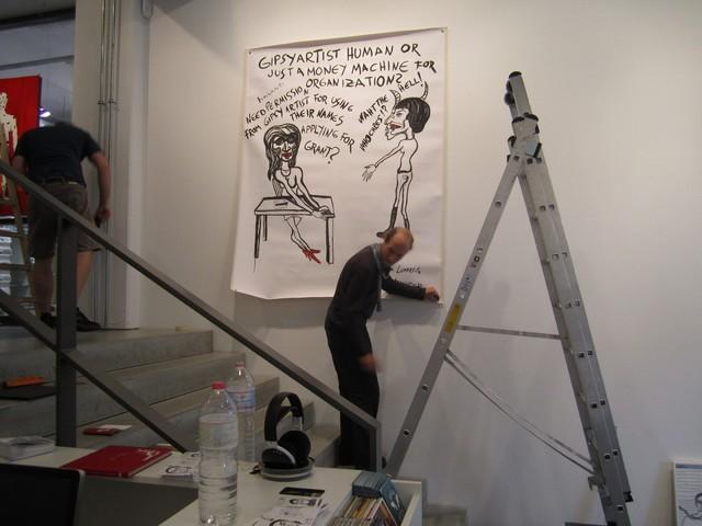 Berliinin näyttelyn valmistelua